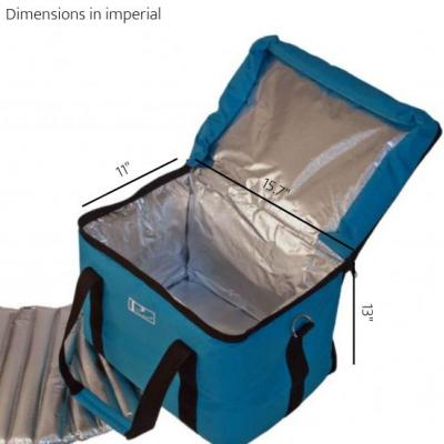 Large Cold Chain / Vaccine Transportation Bag measurements inches