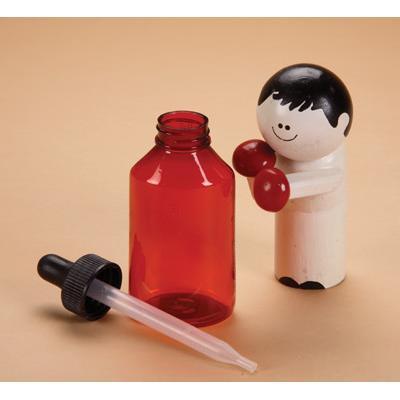 Amber Plastic Dropper Bottle, 2 oz.