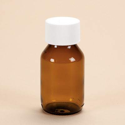 50ml Amber Glass Medicine Bottle with Cap