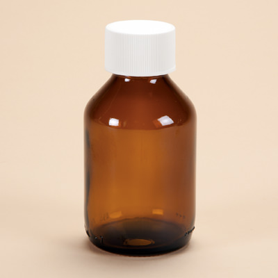 100ml Amber Glass Medicine Bottle with Cap