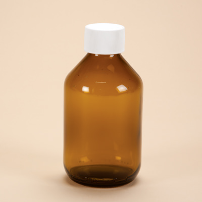 300ml Amber Glass Medicine Bottle with Cap