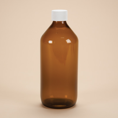 500ml Amber Glass Medicine Bottle with Cap