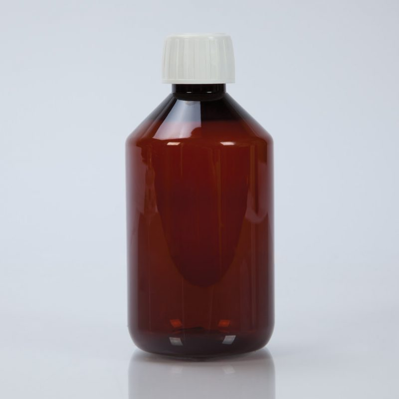 300ml Amber Plastic Bottle