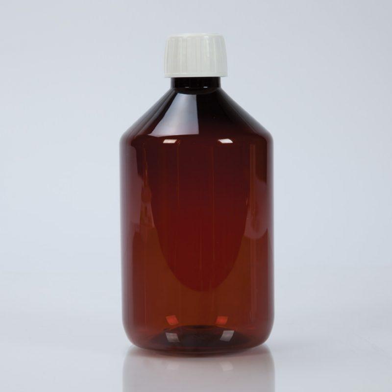 500ml Amber Plastic Bottle
