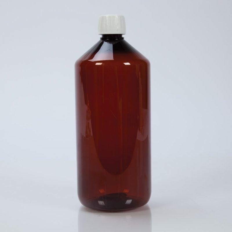 1000ml Amber Plastic Bottle