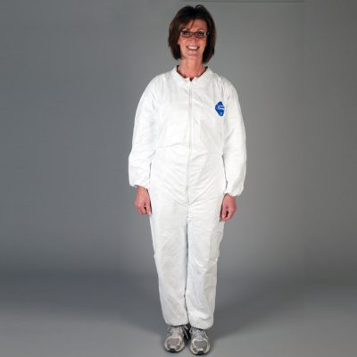 White Disposable Tyvek Coverall