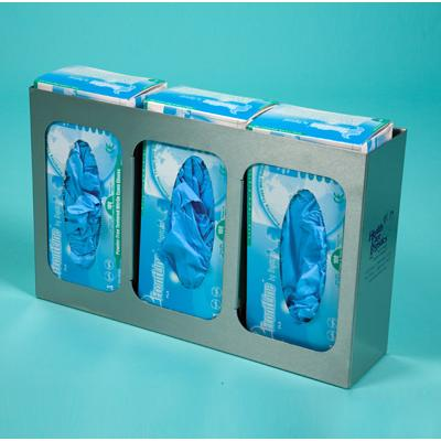 Triple Glove Dispenser with three dividers and Stainless Steel wall mount