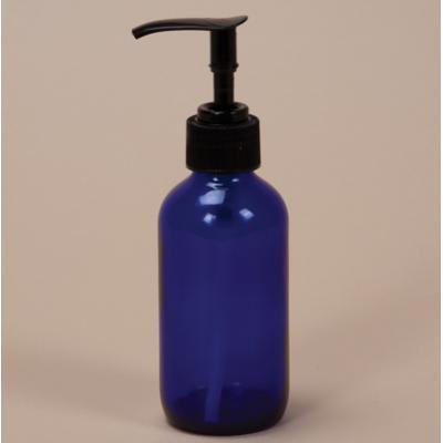 120mL Cobalt Glass Round Bottle with pump