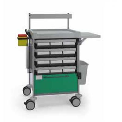 Medication Trolley with central support