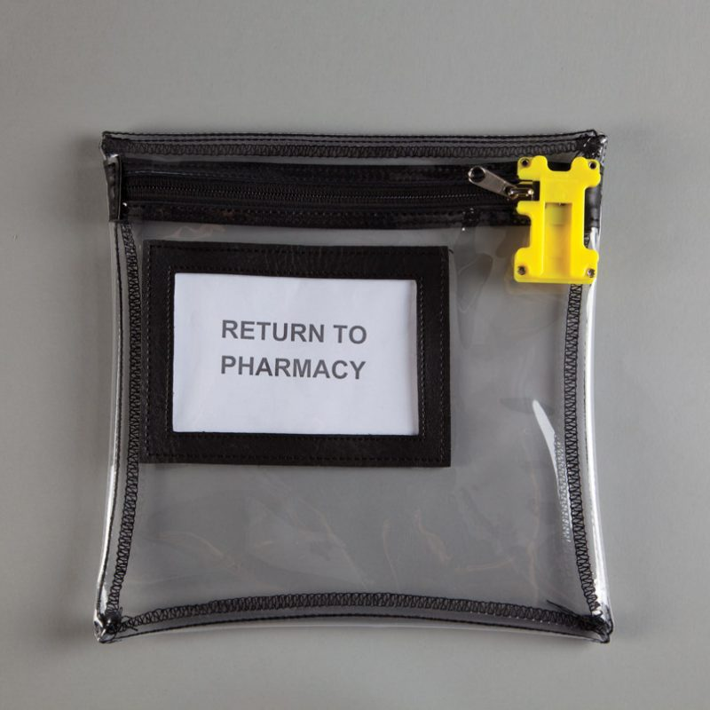 clear reusable tamper evident bag