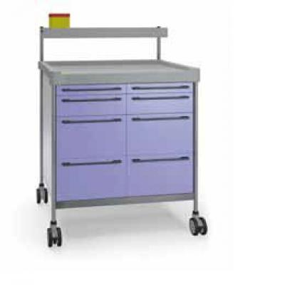 Anaesthesia Trolley with 8 drawers