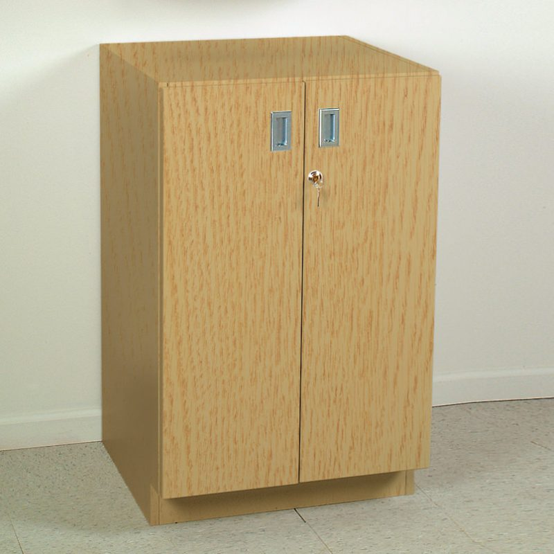 Base Cabinet With Locking Doors 24 Inch Wide