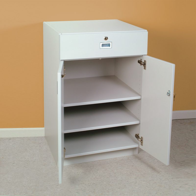 Base Cabinet With Locking Doors And Drawer 24 Inch Wide