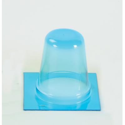Round Extra High Barrier Blister, Blue, 1 Inch Deep