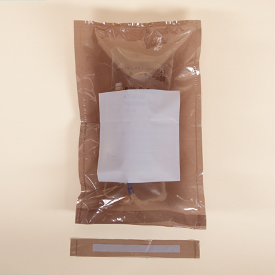 Light Amber Self Sealing IV Bag