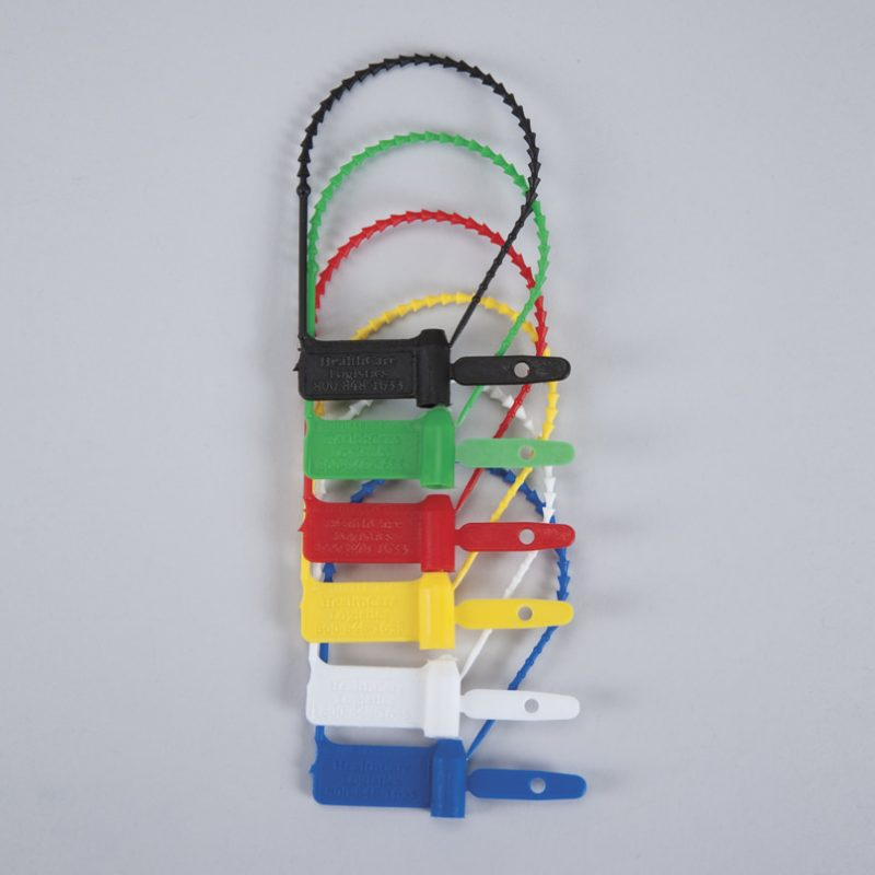 Pull-Tight Padlock Seals in a range of colours