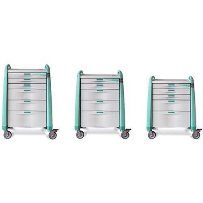 Avalo Anaesthesia Cart size options