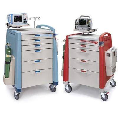 Avalo Emergency Cart blue and red
