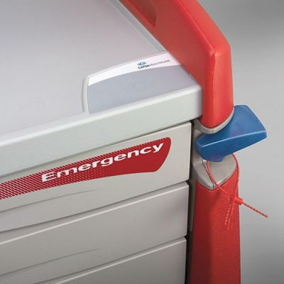 Avalo Emergency Cart breakaway lock and tamper evident tag