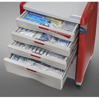 Avalo Emergency Cart drawers open