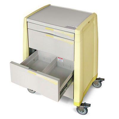 Avalo Isolation Cart drawers open