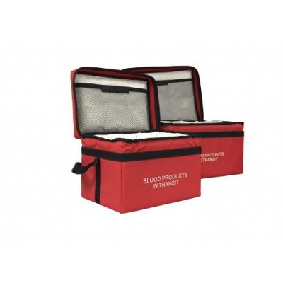Large Red Blood Transport tamper proof courier Bag