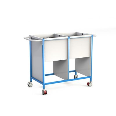 Basic Double Patient Notes Trolley