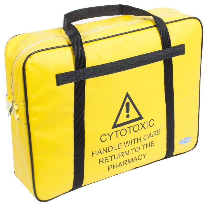 Yellow Cytotoxic Pharmacy Carrier tamper bag