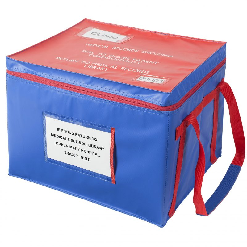 Medical records security tamper evident bag