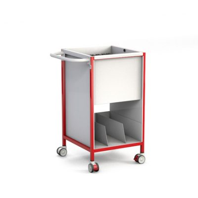 Slimline Patient Notes Trolley with Lower Tray