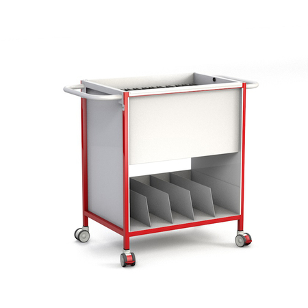 Patient Notes Trolley with Lower Tray