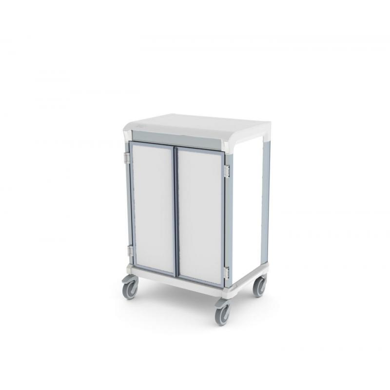 solid door e type single trolley for medical supplies storage
