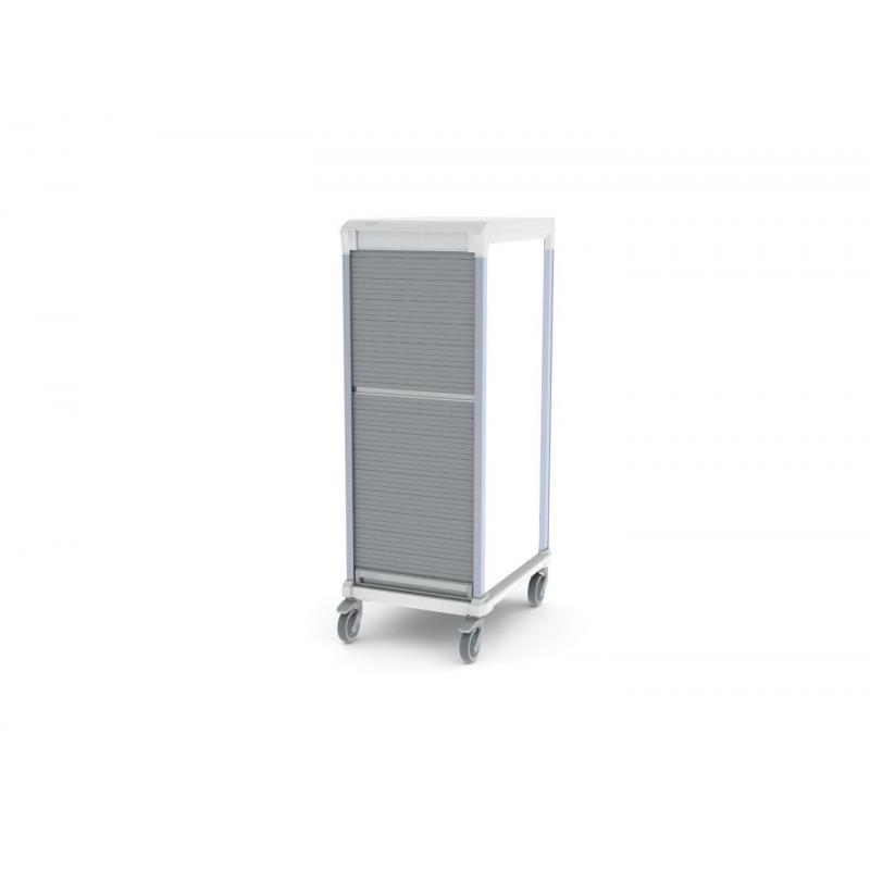 tambour door u type single trolley HTM71 storage for medical supplies