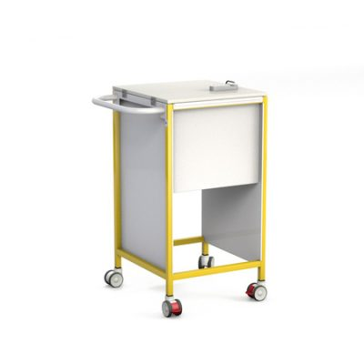 Slimline Patient Notes Trolley with Lockable Lid