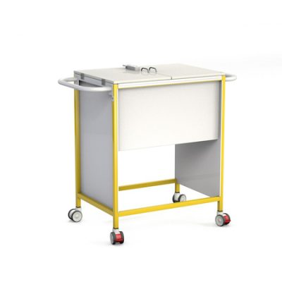 Patient Notes Trolley with Lockable Lid